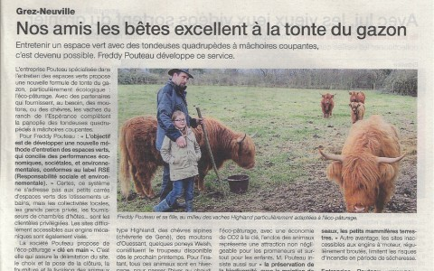 Ouest France Eco-pâturage