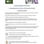 Communique de Presse Welsh Championnat de france